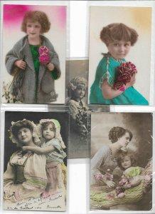 Jugendstil Vintage Kids Theme RPPC Postcard Lot of 10 01.11