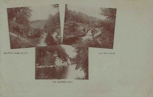 Saxtons RIver Bridge, Twin Falls, Swimming Hole Vermont UDB Postcard