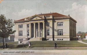 Michigan Battle Creek Charles Willard Library 1908 Rotograph