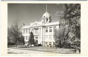 Sidney MT Richland County Courthouse Real Photo RPPC Postcard