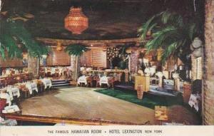 New York City The Famous Hawaiian Room Hotel Lexington Restaurant 1953