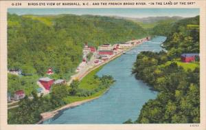 Birds Eye View Of Marshall And The French Broad River In the Land Of The Sky ...
