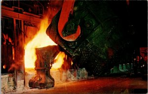 Postcard~Open Hearth Furnace~Gary Steel Works~U.S. Steel Corp.~Gary, Indiana~A16