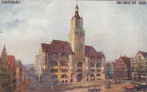 STUTTGART , Germany, 1900-10s ; Das Neue Rathaus ;  TUCK 166 B