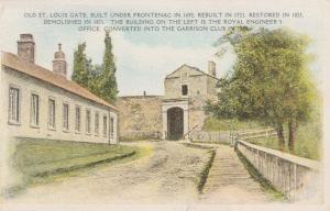 Old St Louis Gate under Frontenac - Quebec, Canada