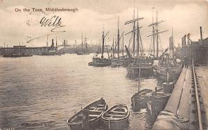 On the Tees, Middlesbrough, Valentine's Series, boats, bateaux, ships port