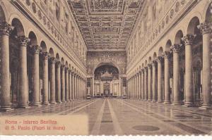 Italy Roma Rome Basilica di San Paolo fuori le mura Interno