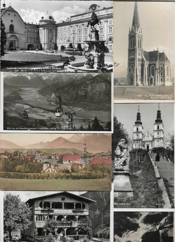 Austria - Innsbruck Villach Bregenz and more Postcard Lot of 20 with RPPC 01.09