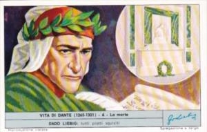 Liebig Trade Card S1810 Life Of Dante No 6 La morte