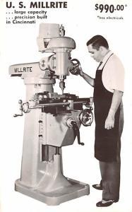 Hardware Advertising Old Vintage Antique Post Card US Millrite 1961 Ink Stamp