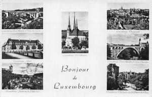 Luxembourg multiviews Pont Adolphe, La Cathedrale Vue Generale Bridge Panorama