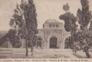 Jerusalem Mosque Of Aska Antique Postcard