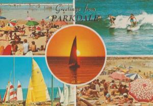 Parkdale Australian Beach Serendipity Boat Sailing Surfing Postcard