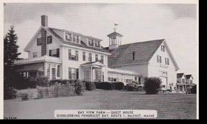 Maine BelfastBay, View Farm-Guest House Dexter Press Archives