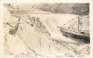c1918 RPPC Postcard; Arrowrock Dam, Boise River ID Elmore / Boise County View 2