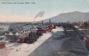 Utah Ogden Union Railroad Station &  Grounds 1909