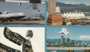 VANCOUVER , B.C. , 60-80s ; Airplane at airport & 3 other views