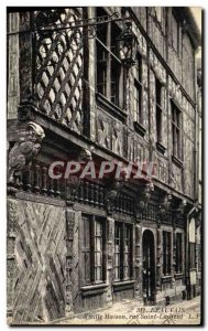 Old Postcard Beauvais Old House Rue Saint Laurent