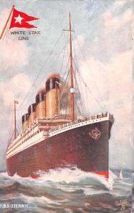 Titanic Ship Post Card Old Vintage Antique White Star Liner Unused