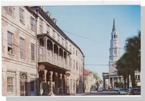 Striking Charleston, SC Postcard, Dock St Theatre,Near Mint!