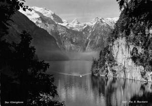 Der Koenigssee Schiff Boat Lake Lac Mountains Fot. E. Baumann