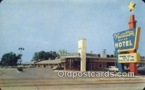 Vacation Motor Hotel, Clarksville, Tennessee, TN USA Hotel Postcard Motel Pos...