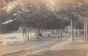 Lake Maranacook Maine Waterfront Real Photo Antique Postcard K78834