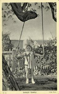 Child Actress SHIRLEY TEMPLE on Swing Seat (1930s) Fox Film S12 (I)