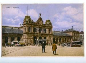 172338 GERMANY MAINZ Bahnhof Station Vintage postcard