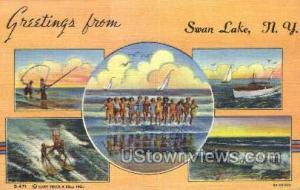Swan Lake, New York, NY Post Card Postcard Swan Lake NY Unused