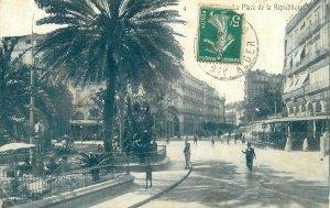Algeria old Postcard Constantine Republic Square