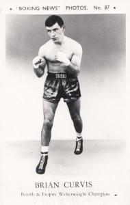 Brian Curvis Boxer Boxing News Real Photo Postcard