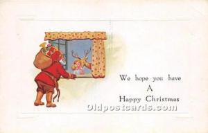 Santa Claus Christmas Unused crease right top corner