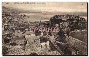 Old Postcard Monaco Monte Carlo General view