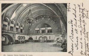 ST. LOUIS  , Missouri , 1906 ;  Interior Union Station