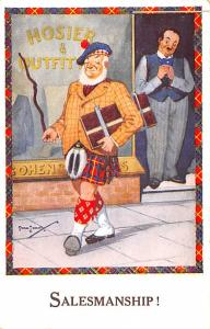 Scotland, UK Old Vintage Antique Post Card Salesmanship Unused