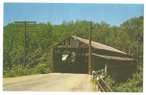 Covered Bridge Postcard Vermont Waitsfield VT Don Sieburg