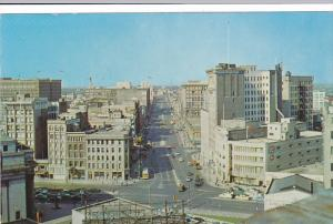 Elevated View , Portage Avenue , WINNIPEG , Manitoba , Canada , PU-1965