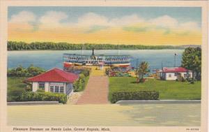 Michigan Grand Rapids Pleasure Steamer On Reeds Lake Curteich