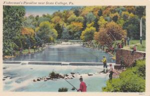 Pennsylvania Center County Fisherman's Paradise Near State College 1953