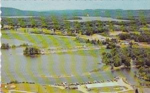 Maine Air View Of Raymond Showing Panther Pond In Back Ground