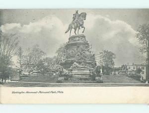 Unused Undivided GEORGE WASHINGTON STATUE Philadelphia Pennsylvania PA v2818