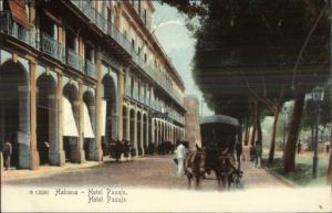 Havana Cuba Hotel Pasaje c1905 Rotograph Postcard EXC COND