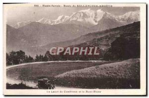 Old Postcard Route De Sallanches Combloux Megeve The lace and Mont Blanc