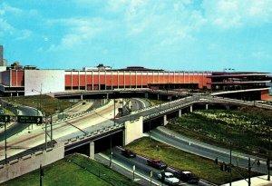 Vintage Cobo Hall & Expressways Detroit, MI Postcard P169