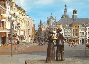 B108620 Netherlands Markt met Janus en Bet Statue real photo uk