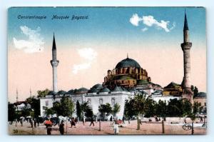 Postcard Turkey Constantinople Mosquee Bayazid K10