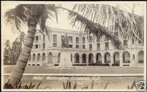 panama, Canal Zone, CRISTOBAL Hotel Washington 30s RPPC