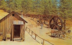 Miner's Cabin & Water Wheel, Sonora-Columbia, CA Bonanza c1960s Vintage Postcard