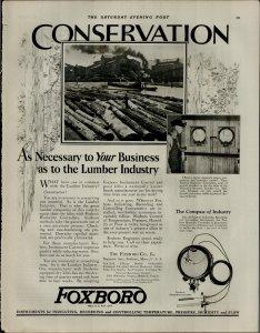 1927 Foxboro Instruments For Indicating Recording Temperature VTG Print Ad 3874